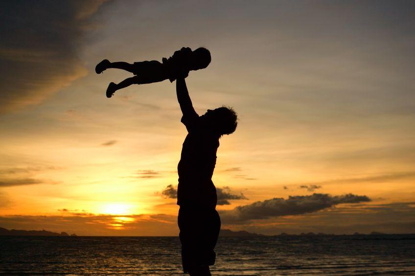 父子:夕日