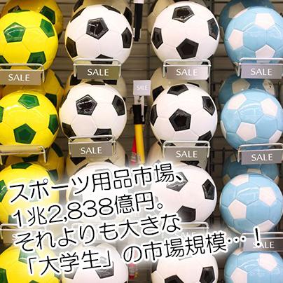 サッカーボールの展示