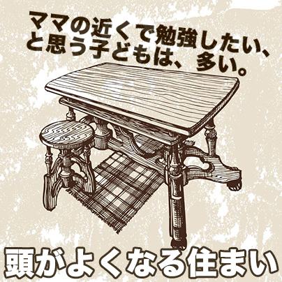 キッチンの机